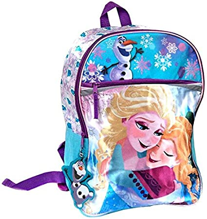 93b8d92a1ac Image Unavailable. Image not available for. Color  Disney Frozen Elsa   Anna  Sisters Forever with Olaf Glitter   Satin Backpack