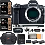 Canon EOS R Mirrorless Full Frame Digital Camera Body with Lens Converter, Memory Cards, Camera Bag, Cleaning Kit, Monopod, Camera Bag and Accessories