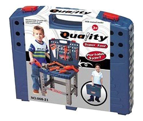 510EWs0t8ML - Toy Tool Set Workbench Kids Workshop Toolbench