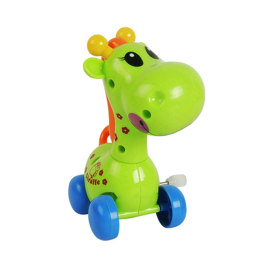 Shangwelluk 1Pcs Cute Cartoon Animal Giraffe Wind up Toys Assorted Mini Toy Animal for Childrens Party Gifts Kids Birthdays Random Color