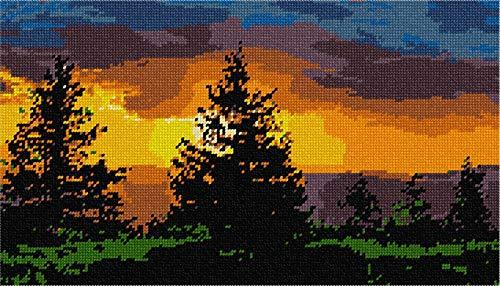 pepita Evergreen Sunset Needlepoint Canvas