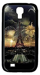 Brian114 Samsung Galaxy S4 Case, S4 Case - Cool Black Back Hard Case for Samsung Galaxy S4 I9500 Eiffel Tower In Storm Design Hard Snap-On Cover for Samsung Galaxy S4 I9500