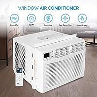 Della 048-TL-WAC6K 6,000 BTU 250-sq ft 115 Volt Window Air Conditioner w/ RC
