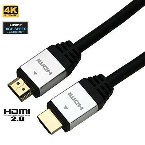 Price comparison product image UNITECH High Speed HDMI V2.0 Cable 13 Feet long (4 Meters) - Braided Cord - 18Gbps - Gold Plated Connectors - Ethernet, Audio Return - Video 4K 2160p, HD 1080p, 3D - XBOX - PS4 _ Ideal for 4K TVs