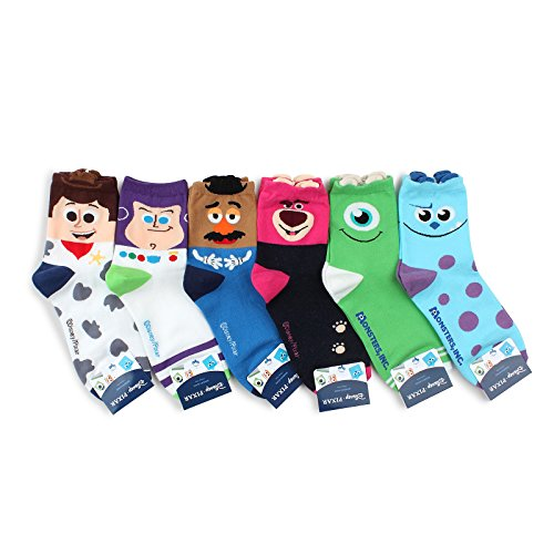 Choice !! Marvel Disney Pixar Characters Original Set Socks With Intype Pouch (Crew 6pairs(OA))