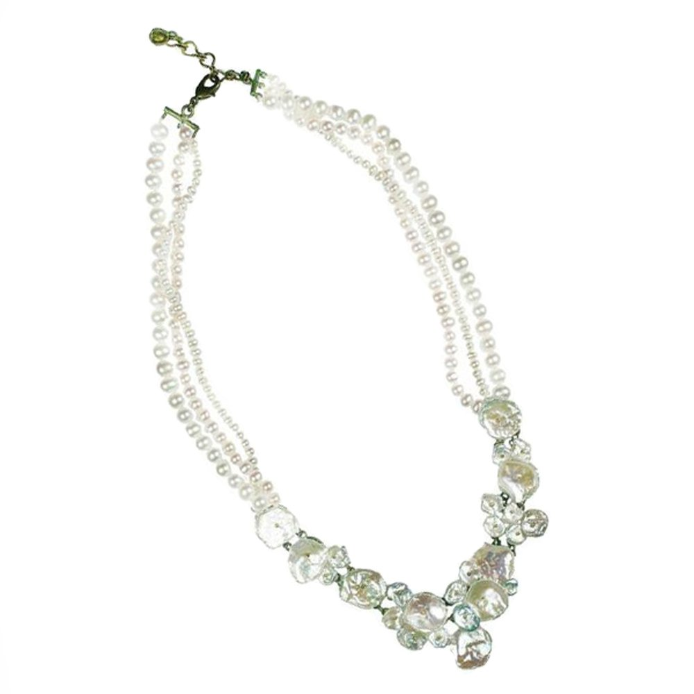 ''Silver Dollar'' Pearl Twist Necklace by Michael Michaud for Silver Seasons…
