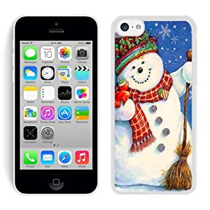 Iphone 5C Case,Red Scarf Snowman White Cover Case Fit Iphone 5C Cover