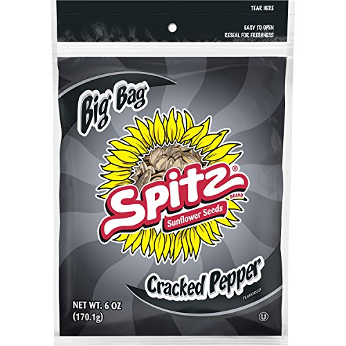 (Spitz Cracked Pepper Flavored Sunflower Seeds, 6 oz Bag (Pack of 12))