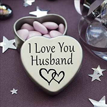 Perfect way to say i love you beautiful mini silver heart tin perfect way to say i love you beautiful mini silver heart tin with sweets negle Choice Image