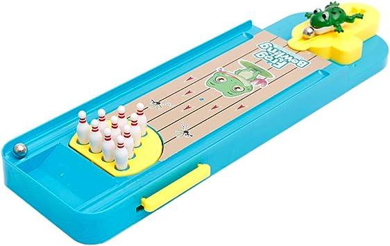 Mini rana Bowling Juegos de mesa Tabla creativo Reducir Juegos Estrés cubierta 1set de escritorio Tabla Interactiva Niños Educativo de Aprendizaje Juego de Mesa: Amazon.es: Juguetes y juegos