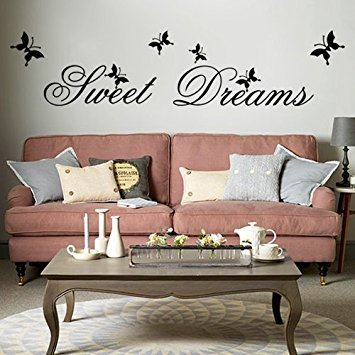 sweet dreams diy removable art vinyl quote wall sticker decal mural