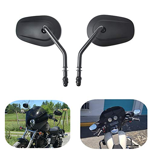 KEMIMOTO Motorcycle Mirrors for Road King Sportster Street Glide Electra Glide Dyna Softail Road Glide 1982-2019 ()