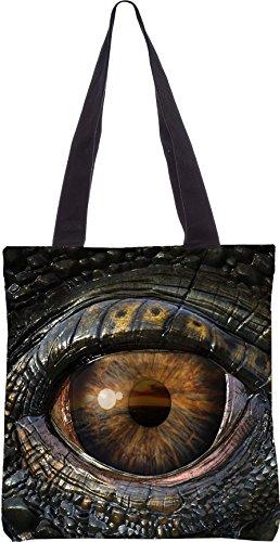 Snoogg Dragon Eye 2774 Shopping Bag 13,5 X 15 Pollici Realizzato In Tela Di Poliestere