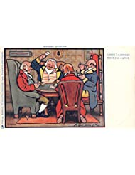 Farde A Carreau N #39;Est Pas Cpot, A quiet game of Nap Old Vintage Gambling Postcard Post Card