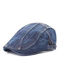 Growing Wild Unisex Stylish Denim Jeans Ivy Cap Golf Cap Cowboy Driver's Cap Hat