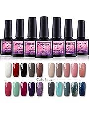 Saint-Acior Gel Poish Kit 20pc Nail Gel PoliSH Soak off UV Nail Gel Set Manicure Nail Salon Kit