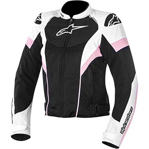 Alpinestars T-GP Plus R Air Women's Street Motorcycle Jackets - Black/White/Pink / Medium