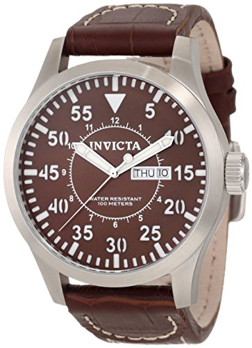 Mens Specialty Brown Dial - Invicta Men's 11185 Specialty Brown Dial Brown Leather Watch
