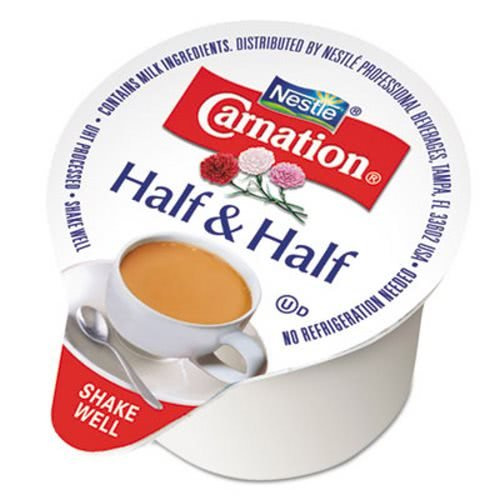 Carnation 21501 Half & Half, 0.304 oz Cups, 180/Carton by Carnation