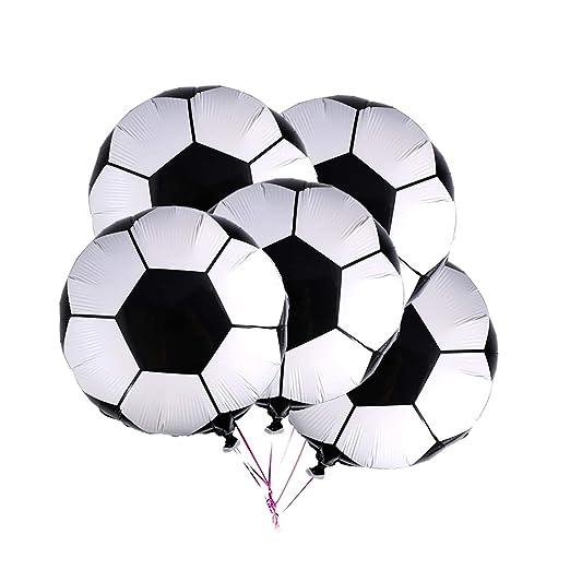 Newin Star 10pcs Fútbol Globos de Papel de Aluminio 18 Pulgadas Globo Metalizado Globos para la decoración casera Fiesta de cumpleaños Decoración de ...