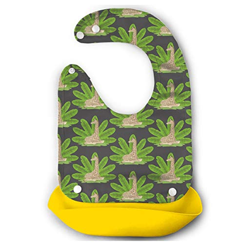 Price comparison product image Banana Fan And Giraffe Bibs For Girls And Boy- Easy To Clean Feeding Bibs