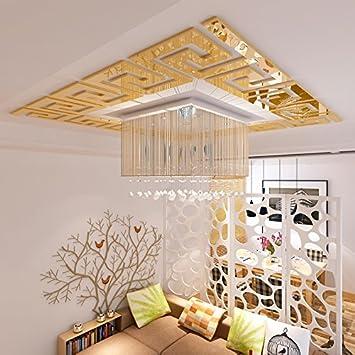 Loterong Acryl Spiegel Three Dimensional Wandaufklebern Wohnzimmer  Schlafzimmer Decke Dach Dekoration Baseboard Taille Stick,