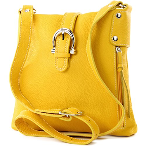 Made Italy - Bolso cruzados para mujer amarillo