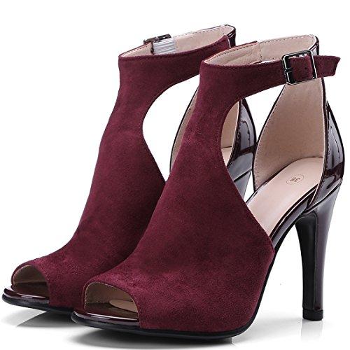 Out Con Sandali Stiletto Cinturino Caviglia E Ladies Tacco Cut Alto Ye Donna Alla 8xnTOq0Ot