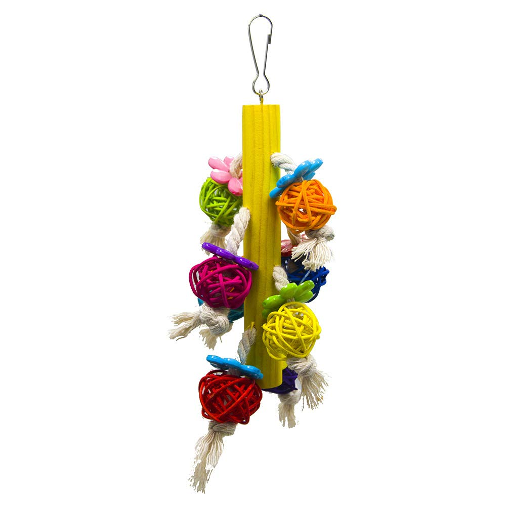 Pet Online Parred Toy Cylinder Cotton Rope Flower bite Rod Birdcage Takraw Ball