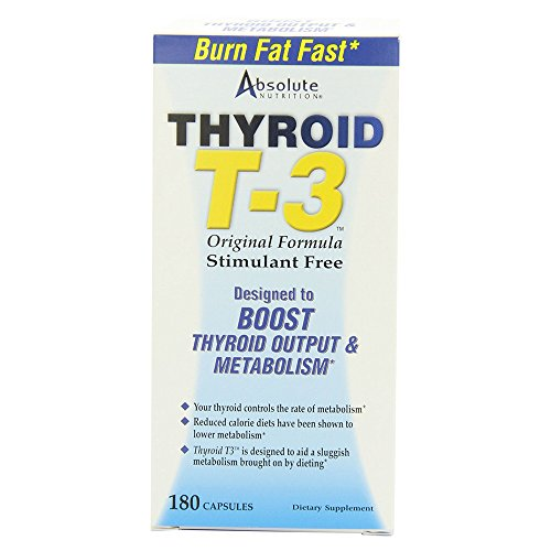- Absolute Nutrition Thyroid T-3 Radical Metabolic Booster, 180 Capsules