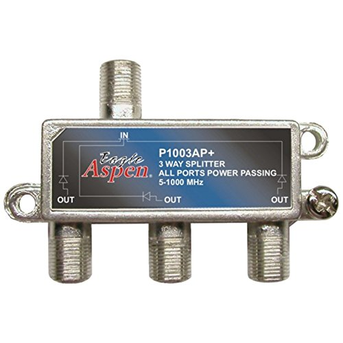 EAGLE ASPEN 500303 1,000MHz Splitter (3 Way) Consumer Electronics Accessories (Eagle Aspen 1000mhz Splitter)