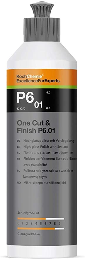 Koch Chemie One Cut Finish P6 01 250ml High Gloss Polish With Seal Car Polish Auto