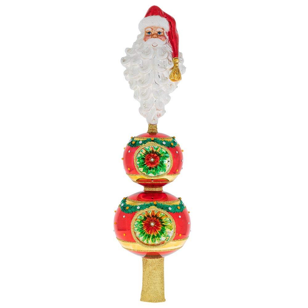 Christopher Radko Santa Topper Finial Christmas Ornament