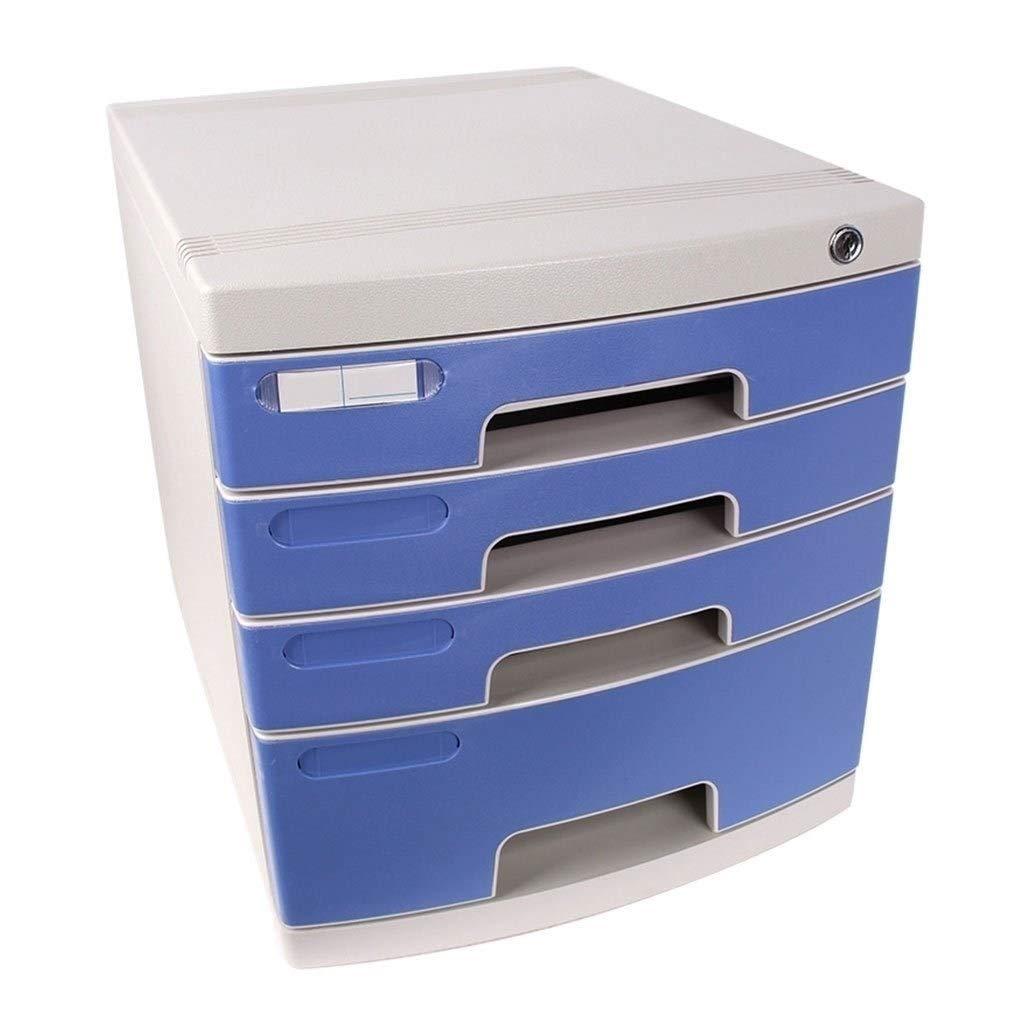 File Cabinet 4 Drawer Lockable Plastic File Storage Cabinet