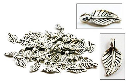Silver Leaf Charm - 4