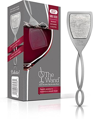 The Wand by PureWine   Removes Histamines & Sulfite Preservatives, By-the-Glass   No More Wine Headaches (8-pack) by PureWine