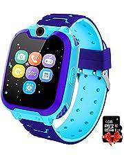 Bambini Game Smartwatch- Music Orologio Smart Phone con SIM Card Camera 7 tipi di giochi Touch Screen Learning Giocattoli Regali di Ragazzi e Ragazze Compleanno