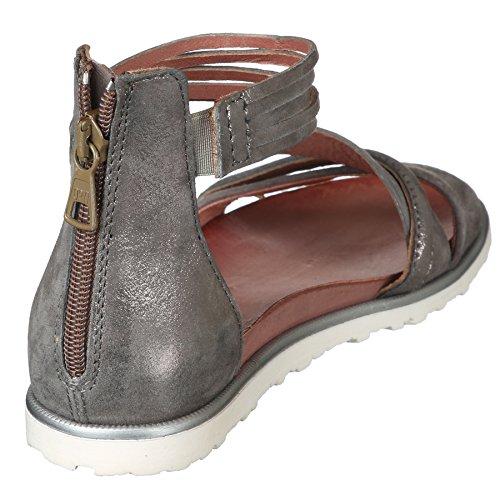 Mjus Sandalo In Grigio Mj-255074 Grigio Con Applicazioni Metalliche