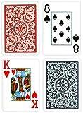 Copag Bridge Size Jumbo Index 1546 Playing Cards (Blue Red Setup)