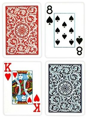 Copag Bridge Size Jumbo Index 1546 Playing Cards (Blue Red Setup) Copag Bridge Cards