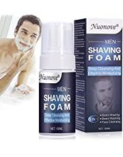 Shaving Foam, Shave Foam Men, Shaving Cream for Men, Beard Shaving & Beard Washing & Face Cleansing, 3 IN 1, Provides a Thick Lather for Shave and Protects and hydrates The Skin, 100ml
