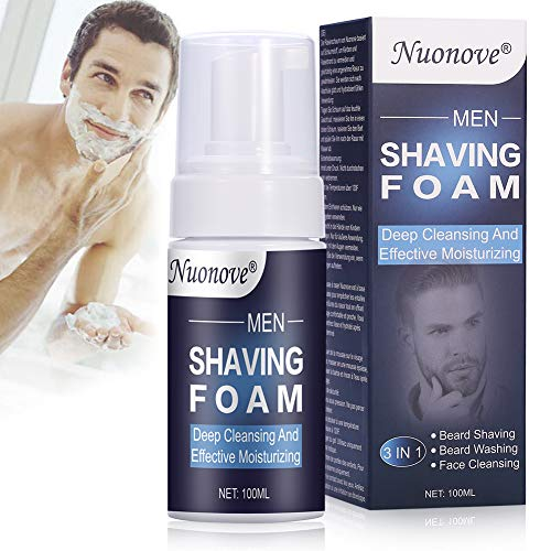 Rasierschaum, Shaving Foam, Bartschaum, Schonender Rasierschaum für Herren, Anti-Irritazione Rasierschaum, eine glatte und sanfte Rasur, Tiefenreinigung UND effektive Feuchtigkeitsversorgung, 100ml