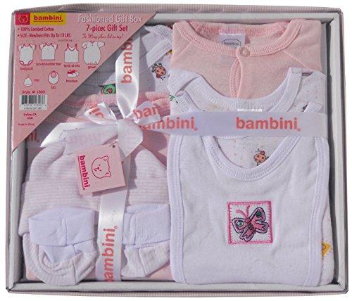 Bambini 7 Piece Gift Box - Newborn - Pink