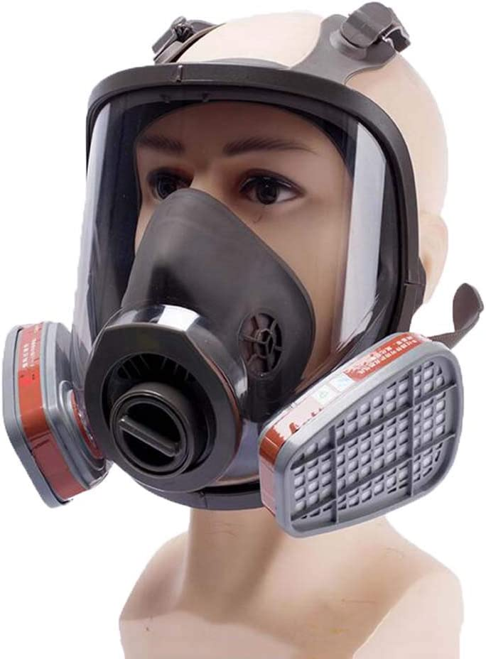 Máscara de Gas Facial Completa, Máscara antigas para el Campo de Realidad Militar, Pintura de pulverización Trabajo Seguro, con Filtros
