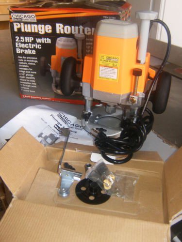 2-1/2 Horsepower Plunge Router Super Duty with three adjustable plunge settings; Includes 1/4