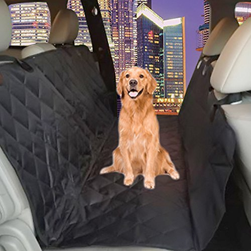 Dog Seat Cover Plus Pet Seat Belt for Cars, Vans, Suvs & Trucks Premium Auto Car Seat Protector Keeps Upholstery Free of Mud Dirt 58″ By 64″ Extra Large Adjustable 19.7″-31.4″ Seat Belt X-large Black Review