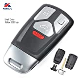 Keyecu Smart Remote Key Shell Case Fob 4 Button for Audi TT A4 A5 S4 S5 Q7 SQ7 2017- up