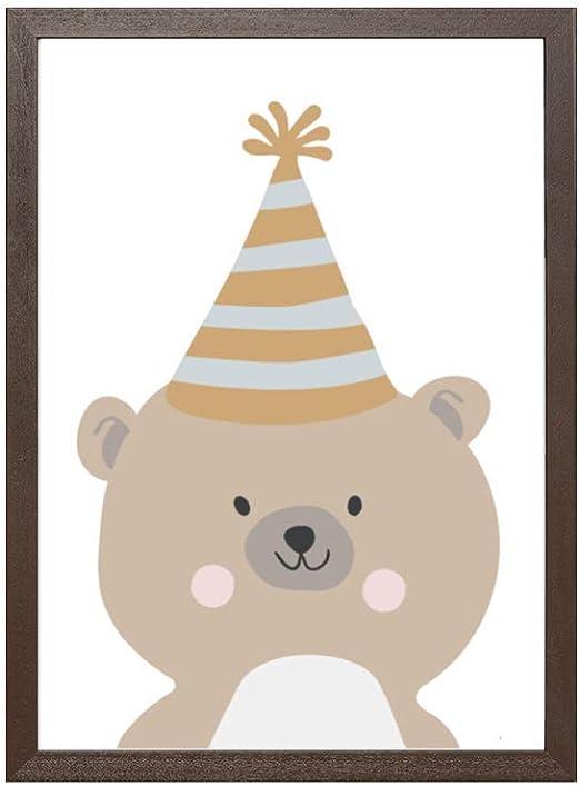 Papers Rain Lámina Infantil Animales 21x30 para enmarcar. -Bear Animals Party- Se envía Desde España: Amazon.es: Hogar