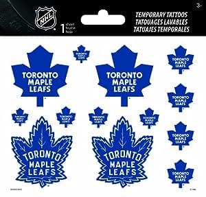 Sandylion Toronto Maple Leafs Temporary High Gloss Tattoos