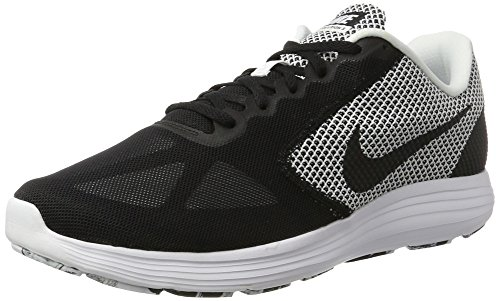 Nike Revolution 3, Zapatillas de Entrenamiento para Hombre Blanco (White / Black)
